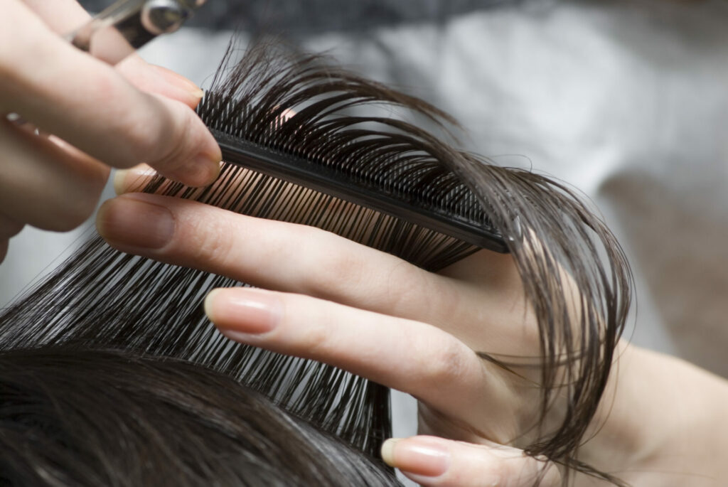 hair styling, hair color